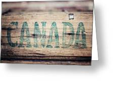 Rustic Canada Greeting Card
