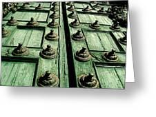 Rustic Church Door Greeting Card