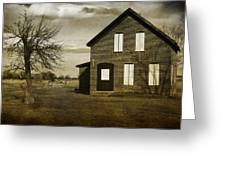 Rustic County Farm House Greeting Card