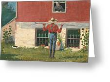 Rustic Courtship Greeting Card