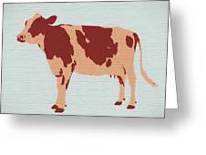 Rustic Cow Greeting Card