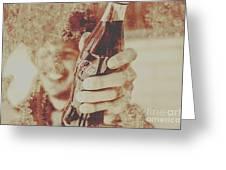 Rustic Drinks Advertising  Greeting Card