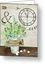 Rustic Farmhouse Our Happy Place Greeting Card