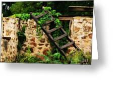 Rustic Ladder Greeting Card