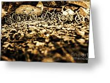 Rustic Mountain Bikes Greeting Card