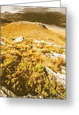 Rustic Mountain Terrain Greeting Card