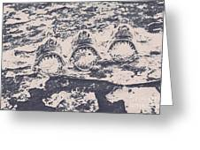 Rustic Nautical Artwork Greeting Card