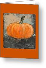 Rustic Pumpkin Greeting Card