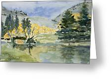 Rustic Reflections Greeting Card