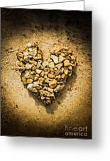 Rustic Rock Romance Greeting Card