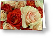 Rustic Rose Bouquet Greeting Card