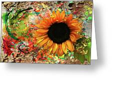 Rustic Sunroot Greeting Card