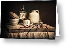 Rustic Table Setting Still Life Greeting Card