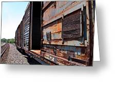 Rustic Train Greeting Card