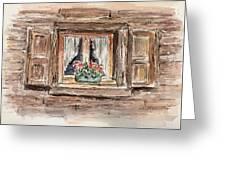 Rustic Window Greeting Card