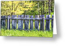 Rustic Wooden Fence At Old World Wisconsin Greeting Card
