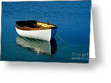 Rustic Wooden Row Boat. Greeting Card