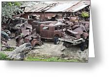 Rusting Antique Cars Greeting Card
