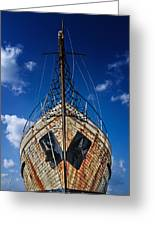 Rusting Boat Greeting Card by Stelios Kleanthous