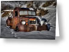 Rusting In Winter Greeting Card