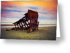 Rusting Shipwreck Greeting Card