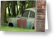 Rustmobile And Shack Greeting Card