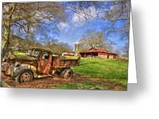 Rusty 1947 Dodge Dump Truck Greeting Card