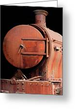 Rusty Abandoned Steam Locomotive Greeting Card