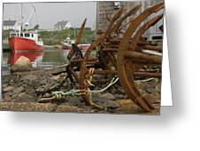 Rusty Anchors-2 Greeting Card