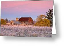 Rusty Barn At Dawn Greeting Card