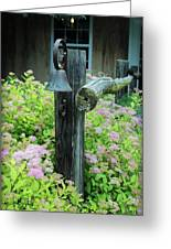 Rusty Bell On Weathered Fence Greeting Card