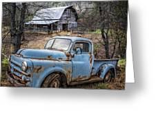 Rusty Blue Dodge Greeting Card