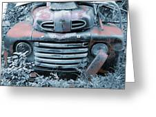 Rusty Blue Ford Greeting Card