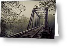 Rusty Bridge Greeting Card by William Schmid