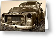 Rusty But Trusty Old Gmc Pickup Greeting Card by Gordon Dean II