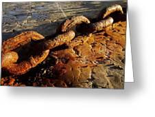 Rusty Chain Greeting Card