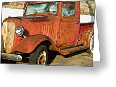 Rusty Chevrolet Pickup Truck 1934 Greeting Card
