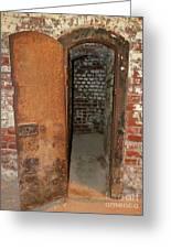 Rusty Door At Ohio Prison Greeting Card