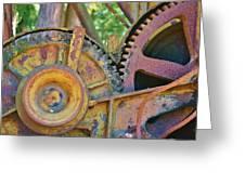 Rusty Gears Greeting Card
