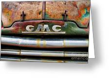Rusty Gmc Truck Greeting Card
