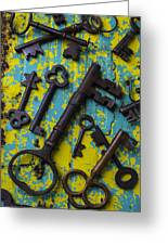 Rusty Keys Greeting Card