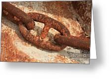 Rusty Links 1 Greeting Card