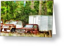 Rusty Old Abandoned Truck 1 Greeting Card