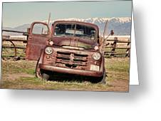 Rusty Old Dodge Greeting Card