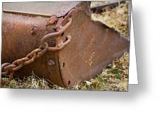 Rusty Old Ore Scoop Greeting Card