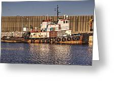 Rusty Old Tug Boat Greeting Card
