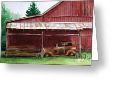 Rusty Ole Car Greeting Card