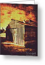 Rusty Outback Australia Shed Greeting Card