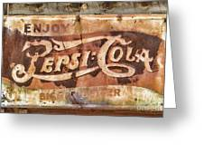 Rusty Pepsi Cola Greeting Card