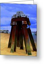 Rusty Pillars Greeting Card